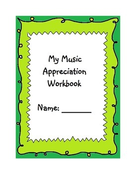 Music Appreciation and Listening Workbook