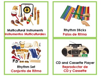 Music Area Labels in English and Spanish