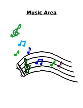 Music Area Sign