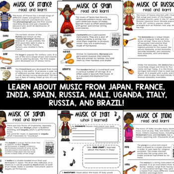 Around the World Music | Distance Learning Activities