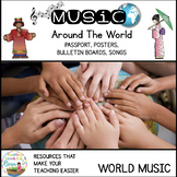 World Music Passports Posters Bulletin Boards Songs and Decor