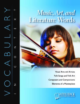 Music, Art, and Literature Words