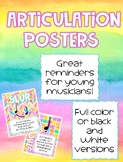 Music Articulation Posters