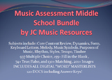 Premium Music Multiple Choice Test Question Bank MS Bundle, Plus 47 Tests
