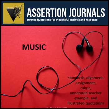 Music: Assertion Journal Prompts for Analysis & Argument