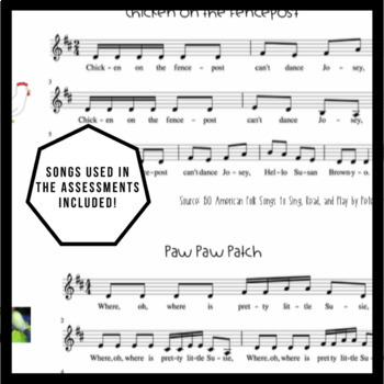 Music Assessment Bundle #2 | do, tika-tika, re