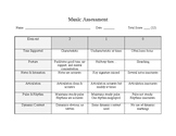 Music Assessment Rubric Basic