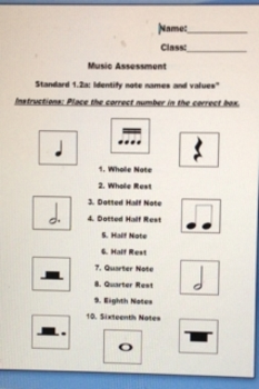 Music Assessment for Note Identification