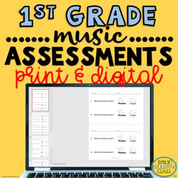 Elementary Music Assessments {1st Grade Music Assessments}