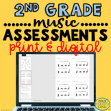 Elementary Music Assessments {2nd Grade Music Assessments}