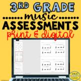 Elementary Music Assessments {3rd Grade Music Assessments}