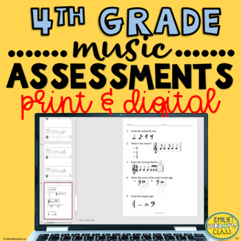 Elementary Music Assessments {4th grade Music Assessments}