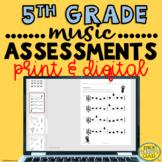 Elementary Music Assessments {5th Grade Music Assessments}