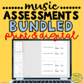 Elementary Music Assessments BUNDLED (74 Music Worksheets for Grades K-5)