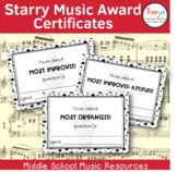 Starry Music Award Certificates
