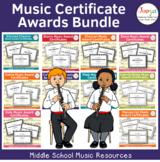 Music Award Certificates Bundle
