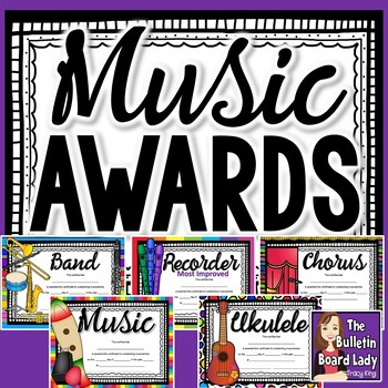 Music Award Certificates -Colorful and Editable