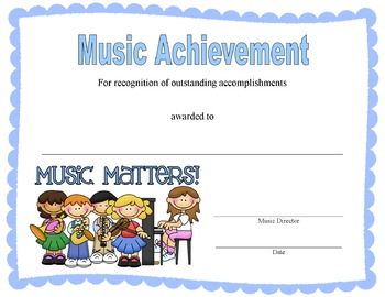 Music Award Certificates - Editable!