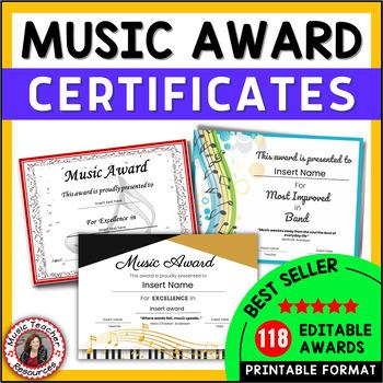 Music Award Certificates *editable*