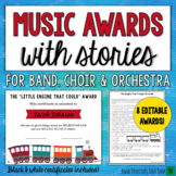 Music Award Certificates with Stories- Editable!