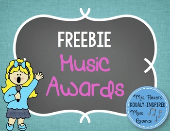 Music Awards {FREE}