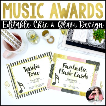 Music Awards {Chic & Glam, Editable: Add Your Students' Names}