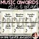 Music Awards {Chic & Glam, Editable, Ink-Saver}
