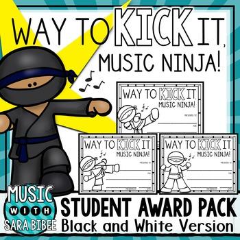 Music Awards- Editable Ninjas- Black/White Version
