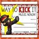 Music Awards- Editable Ninjas- Color/BW Bundle