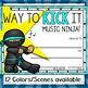 Music Awards- Editable Ninjas- Color Version