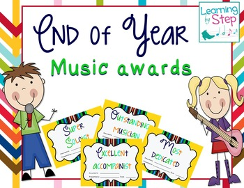 Music Awards- End of the Year Certificates {editable}