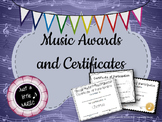 Music Awards and Certificates (Band, Orchestra, Chorus, Ch