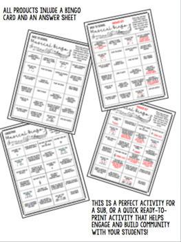 Music BINGO Cards - the GROWING bundle