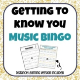 Getting to Know You Music BINGO- Distance Learning included