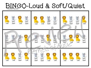 Music BINGO-Loud & Soft/Quiet