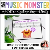 Feed the Music Monster Printable Sight-Reading Ear Trainin