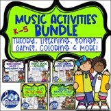 Music BUNDLE Print Activities Bears Farm Forest Safari Zoo