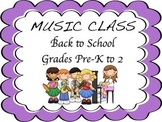 Music- Back To School