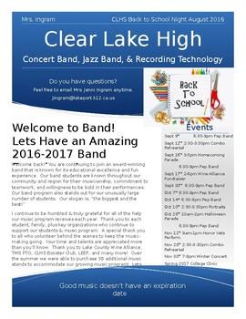 Music Back to School Newsletter