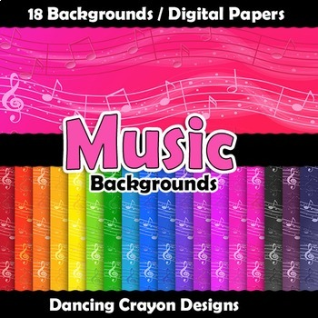 Music Backgrounds Digital Papers