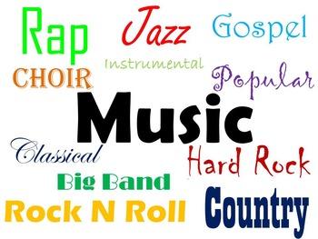 Music, Band, Choir Posters  (Digital and Printable)