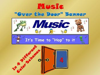 """Music Banner #4: """"Music…It's Time to Hop to it"""""""