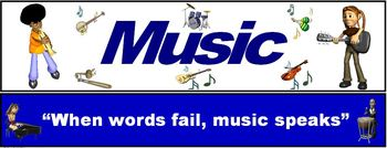 "Music Banner #6: ""When words fail, music speaks"""
