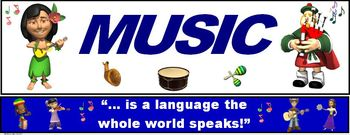 """Music Banner #7: """"Music... is a language the whole world speaks"""""""
