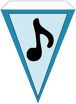 Music Banner Teal Chevron and Solid