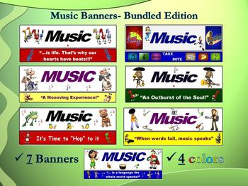 Music Class Banners (Posters)- Bundled Edition (7 Pack)