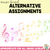 Music Based Alternative Assignments