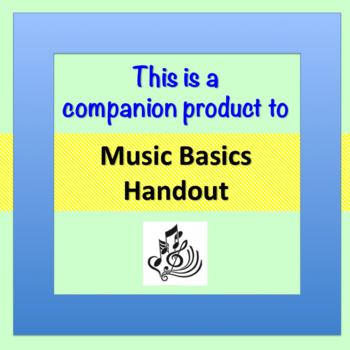Music Basics Worksheet and Quiz ♫ ♫ ♫  (+ Answer Key)