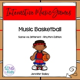 Music Basketball: A Same/Different Rhythm Game