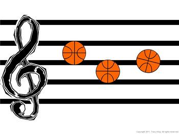Music Basketball Bulletin Board - Let's Play